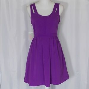 Forever 21 Strap Back Dress Size S Purple NWT